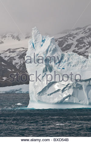 Iceberg, South Georgia. - Stock Photo