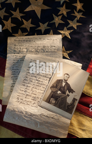 Letters written by Abraham Lincoln - Stock Photo