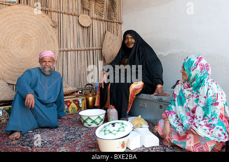 some people with traditional clothes in Dubai - Stock Photo