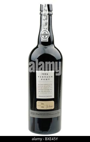 75 cl Bottle of Marks and Spencer 20% alcohol 1994 vintage port - Stock Photo