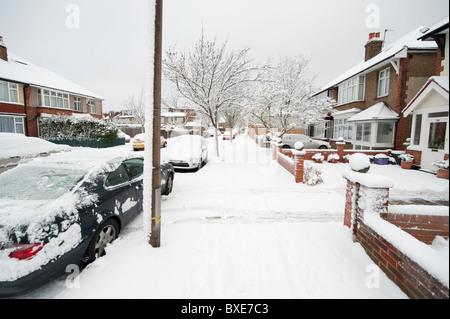 Heavy Snow Fall, London, England, UK - Stock Photo