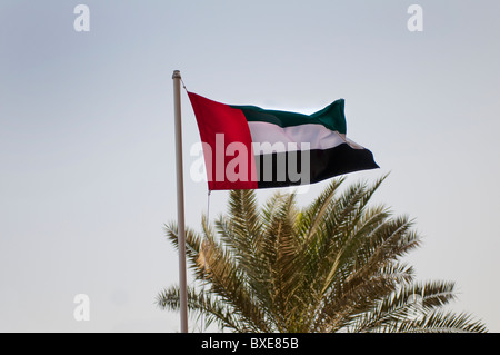 U.A.E. national flag in Dubai - Stock Photo