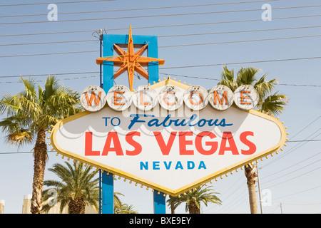 Welcome to fabulous las vegas nevada sign - Stock Photo