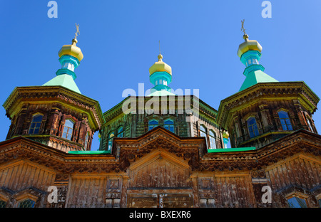 Kyrgyzstan - Karakol - the Russian Orthodox Holy Trinity Cathedral - Stock Photo