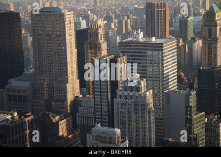 View on the Finance Destrict in New York - Stock Photo