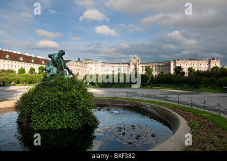 view from volksgarten to Hofburg Palace Heldenplatz Vienna Austria 2010 - Stock Photo