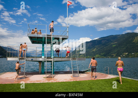 Lido Diveboard in Zell Am See, Austria - Stock Photo