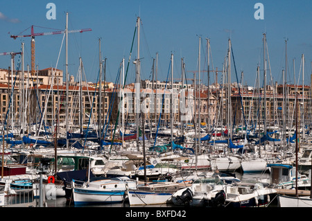 Boats, Vieux Port, Old Harbour, Marseille, France - Stock Photo