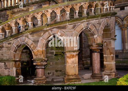 Renovated arched stairway of the McManus Art galleries in Dundee,UK - Stock Photo