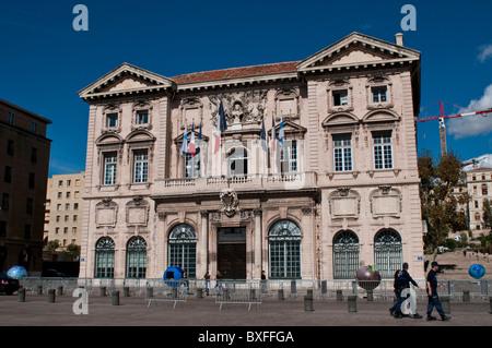 Town Hall, Hotel de Ville, Marseille, France - Stock Photo