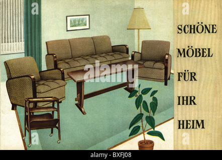 ... Furniture, Advertising, Oberhausen, Germany, 1954, 1950s, 50s, 20th  Century