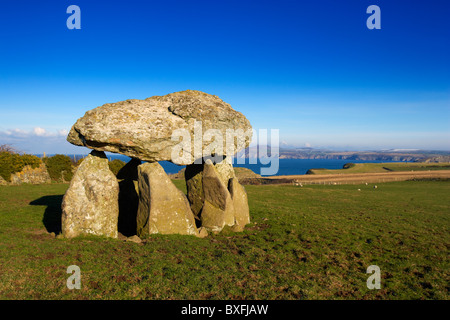 Carreg Samson, Neolithic Burial Chamber, Abercastle, Pembrokeshire, West Wales, UK - Stock Photo