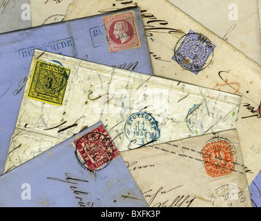 mail / post, stamps, Germany, circa 1852 - 1865, Additional-Rights-Clearences-NA - Stock Photo