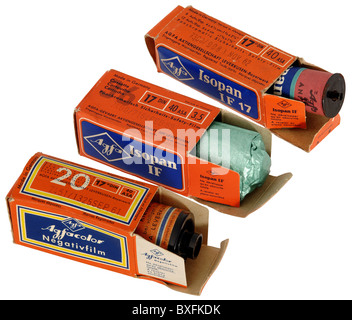 photography, cameras, accessories, Agfa film, for photo camera, roll film, Germany, 1960 - 1968, Additional-Rights - Stock Photo