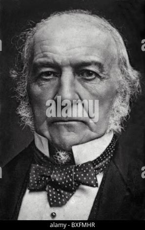William Ewart Gladstone (1809-1898) British Prime Minister, Politician and Liberal Statesman. Portrait. - Stock Photo