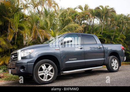 Toyota Tundra pickup truck on Anna Maria Island, Florida sunshine state, United States of America - Stock Photo