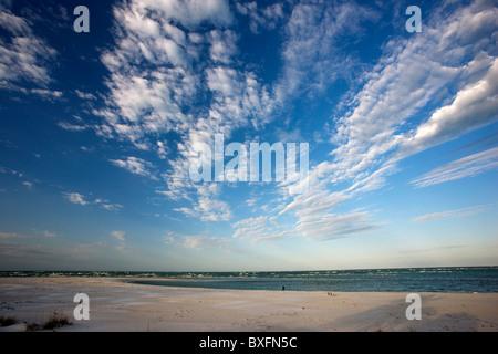 Idyllic shoreline and sandy beach at Anna Maria Island, Florida, United States of America - Stock Photo