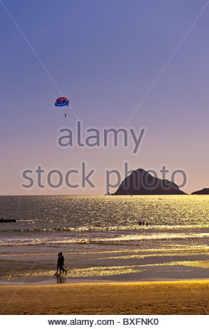 Beach at the Playa Mazatlan Hotel, Mazatlan, Sinaloa, Mexico - Stock Photo