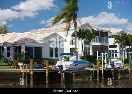 Luxury vacation homes at Port of the Islands, Florida, United States of America - Stock Photo