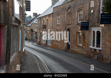 Shops in the Cotswold village of Stow on the wold, Gloucestershire, England - Stock Photo