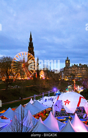 Christmas Celebrations in Princes Street Gardens, Edinburgh