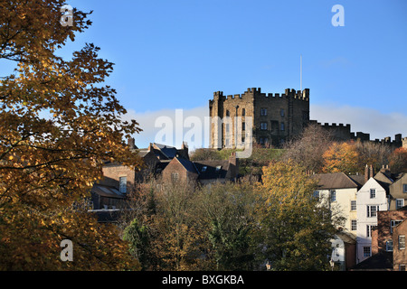 The keep of Durham castle, now a college of Durham University. Co. Durham, north east England, UK - Stock Photo