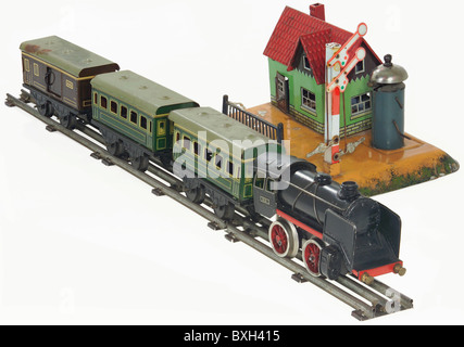 toys, model railway, steam railway, Maerklin, Germany, circa 1930s, Additional-Rights-Clearences-NA - Stock Photo
