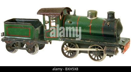 toys, model railway, Maerklin locomotive, type 981, track 1, Germany, 1924, historic, historical, 1920s, 20s, 20th - Stock Photo