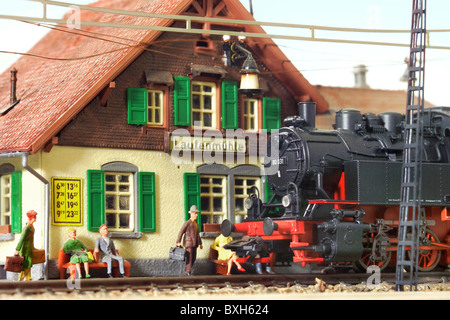 toys, model railway, steam railway, Maerklin, Germany, circa 1929, 20th century, 1920s, 20s, historic, historical, - Stock Photo