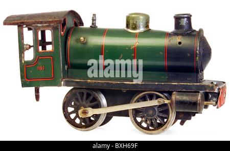 toys, model railway, Maerklin locomotive, type 981, track 1, Germany, 1924, historic, historical, 1920s, 20s, 20th - Stock Photo