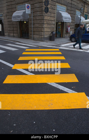 Pedestrian crossings Florence (Firenze) Tuscany central Italy Europe - Stock Photo