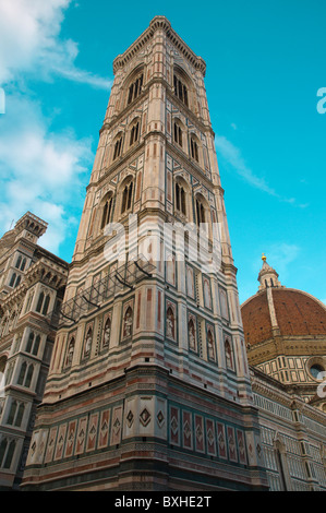 Campanile di Giotto the bell tower of Duomo the cathedral Florence (Firenze) Tuscany central Italy Europe - Stock Photo