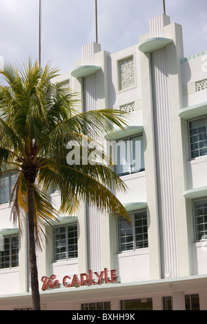 The Carlyle in South Beach Miami Luxury Condo Vacation Rental on Ocean Drive, South Beach, Miami, Florida, USA - Stock Photo