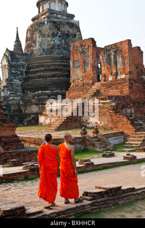 Three Chedis, Wat Phra Si Sanphet, Ayutthaya, Thailand - Stock Photo