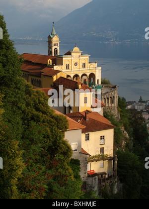 Madonna del Sasso, Locarno, Ticino, Switzerland - Stock Photo