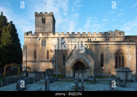 St Edwards Church on a winter's morning, Stow On the Wold, Cotswolds, Gloucestershire, England ,UK - Stock Photo