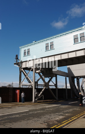 Bascule bridge, Dock Road, near Stanley Dock, Liverpool, Merseyside, England, UK. - Stock Photo