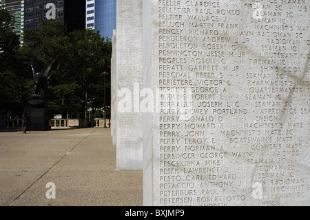 United States. New York. Second World War's memorial in Battery Park. - Stock Photo
