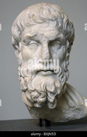 Epicurus (c. 341-270 b.C.). - Stock Photo