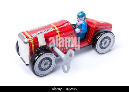 Clockwork toy car - Stock Photo