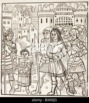King St Louis, Louis IX of France, and his two brothers, Alphonse and Charles, are captured by Saracens after Battle of Fariskur