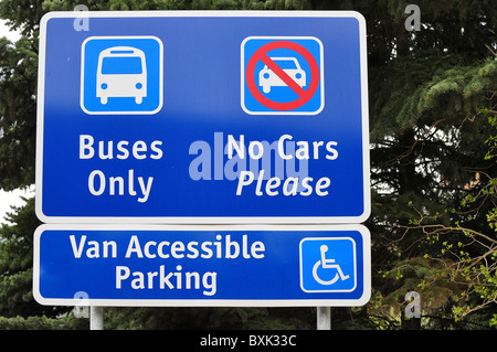 travel auto signs - Stock Photo