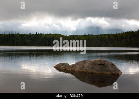 Franconia Notch State Park- Lonesome Lake in the White Mountains, New Hampshire USA