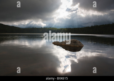 Franconia Notch State Park - Lonesome Lake in the White Mountains, New Hampshire USA.