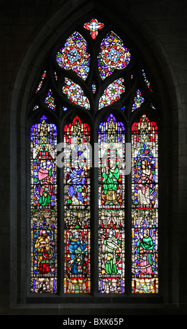 Sheffield Cathedral Stained Glass Window - Stock Photo