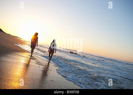 Women at Beach, Baja California Sur, Mexico - Stock Photo