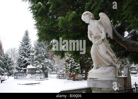 angel statue at Het Oude Kerkhof in Roermond Netherlands Europe - Stock Photo