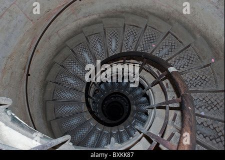 Paris, France, Inside French Monuments, Arc de Triomphe, Spiral Staircase - Stock Photo