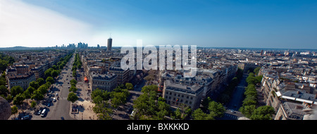 Paris, France, Panoramic Cityscape, Overview Skyline (from Arc de Tri-omphe) - Stock Photo