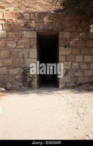 Underpass at Petra toa Romiou - Stock Photo
